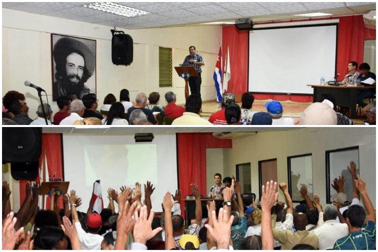 La brigada solidaria rechazó la agresividad contra Venezuela, Nicaragua y  Cuba. (Foto: PL)