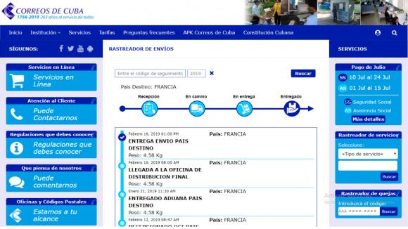 Correos de Cuba presenta nuevo servicio digital para la localización de envíos