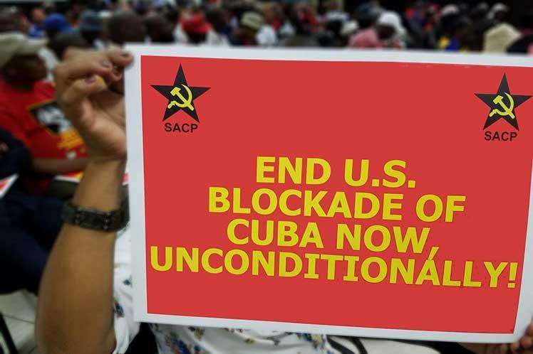 cuba, sudafrica, partido comunista de sudafrica, bloqueo de eeuu a cuba