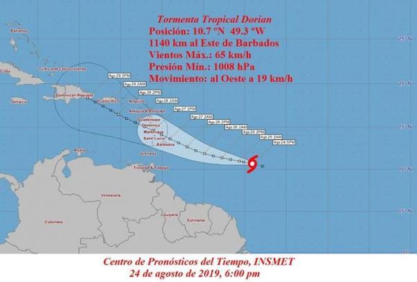 instituto de meteorologia, tormenta tropical