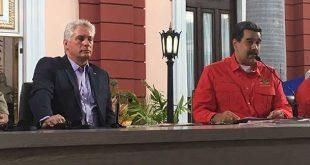 cuba, venezuela, nicolas maduro, injerencia, estados unidos, bloqueo