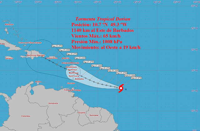 cuba, tormenta tropical, instituto de meteorologia