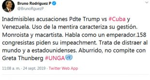 Cuba, EE.UU., Minrex, ONU, Donald Trump