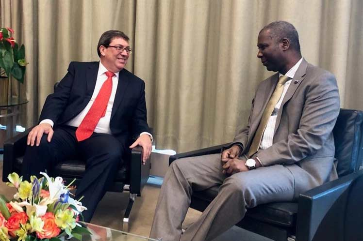 El canciller cubano tuvo este viernes otra intensa agenda en la sede de la ONU. (Foto: PL)