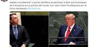 Díaz-Canel, Jair Bolsonaro, Donald Trump, cambio climático