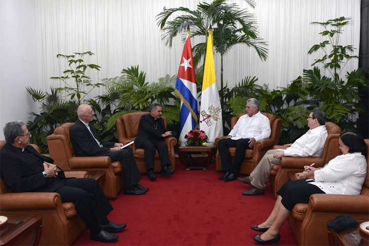 Cuban President receives Cardinal Giovanni Becciu