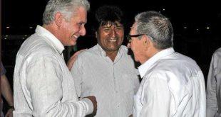 Cuba, Bolivia, Raúl Castro, Evo Morales, Díaz-Canel
