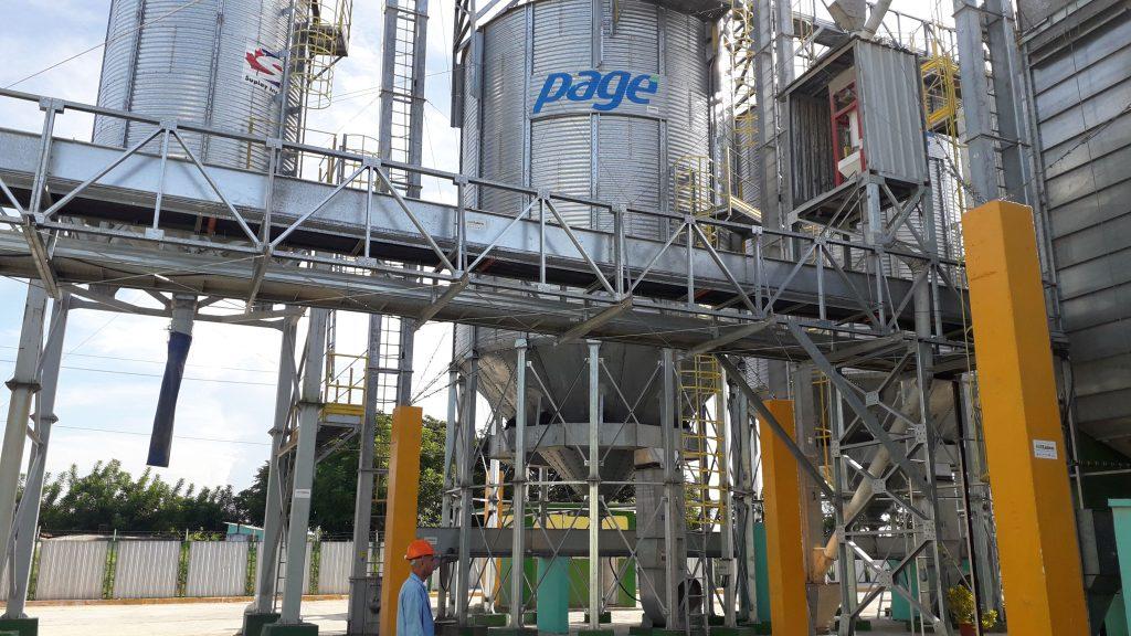 La Planta de Secado y Beneficio de Granos posee cinco silos de almacenamiento.