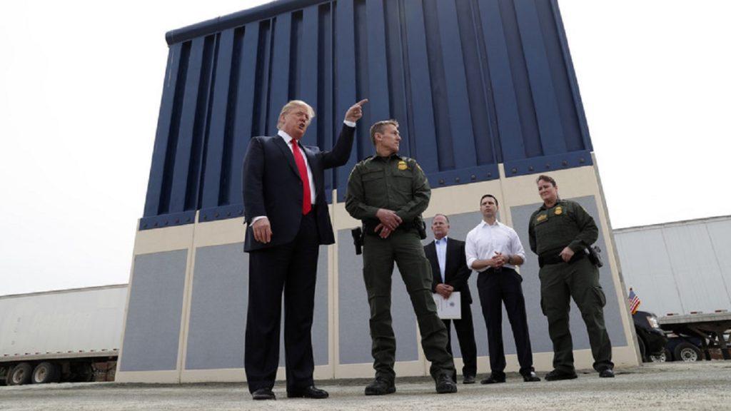 El muro en la frontera con México es una de las principales promesas de  la campaña de Trump en 2016, que no ha podido concretar.