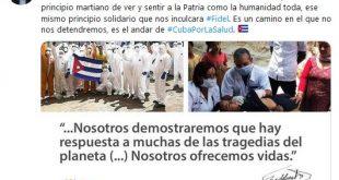 Cuba, Salud, solidaridad