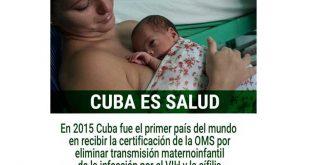 Salud, Cuba, OMS, VIH