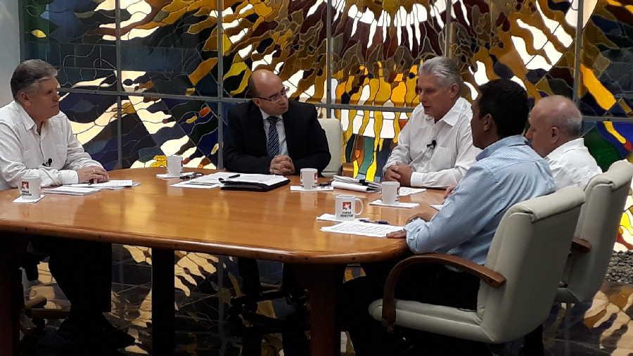 cuba, miguel diaz-canel, presidente de cuba, combustibles, energia electrica, mesa redonda