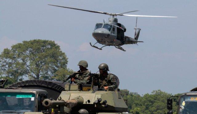 Ceballos destacó  que la FANV no permitirá el ingreso a Venezuela de ninguna unidad  militar de otro país. (Foto: PL)