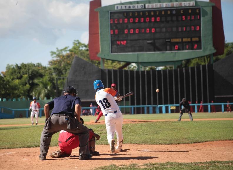 La ofensiva de los Gallos no consiguió ligar con efectividad a pesar de registrar 11 imparables. (Foto: Oscar Alfonso / Archivo)
