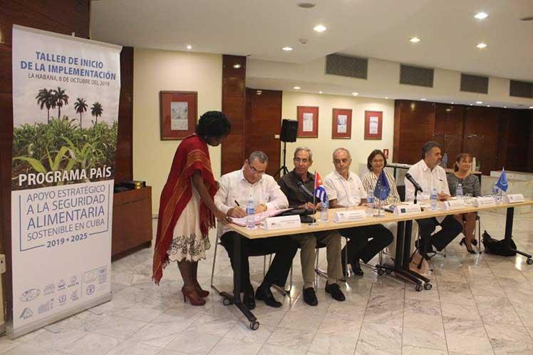 Este martes en La Habana comenzó el taller de inicio de la implementación del Programa País de apoyo estratégico a ala sostenidbilidad alimentaria. (Foto: PL)