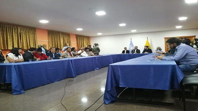 El jefe de Estado dio apertura a la negociación.  (Foto: @CONAIE_Ecuador)