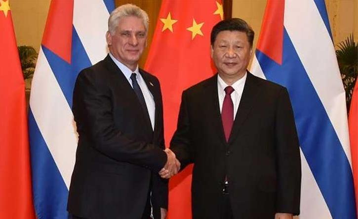 cuba, china, miguel diaz-canel, xi jinping, presidente de la republica de cuba