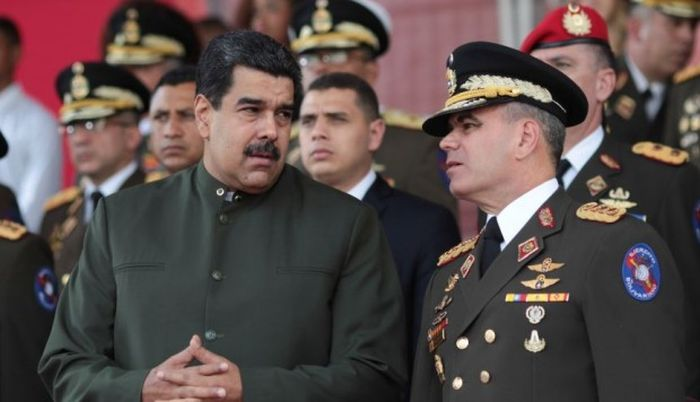 Nicolás Maduro y general Padrino Venezuela