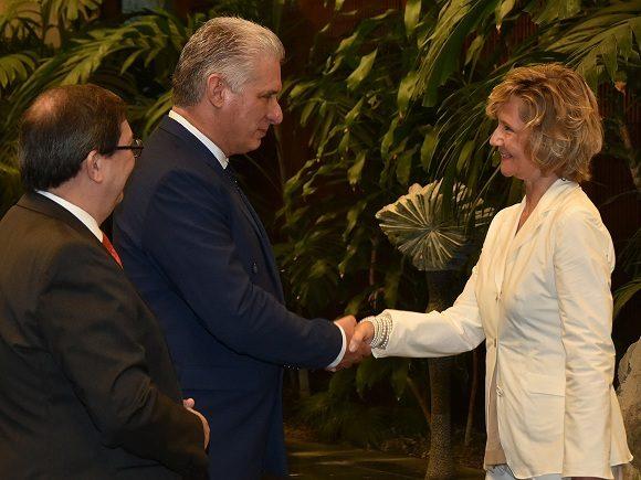 Recibe Díaz-Canel a la Excma. Sra. Heidrun Tempel, Embajadora de la República Federal de Alemania.