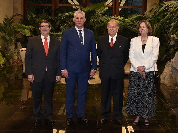 Recibe Díaz-Canel a Excmo. Sr. Miguel Ignacio Díaz Reynoso, embajador de los Estados Unidos Mexicanos.