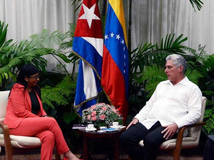 cuba, venezuela, delcy rodriguez, miguel diaz-canel, predidente de cuba