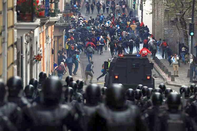 ecuador, lenin moreno, estado de excepcion, protestas populares