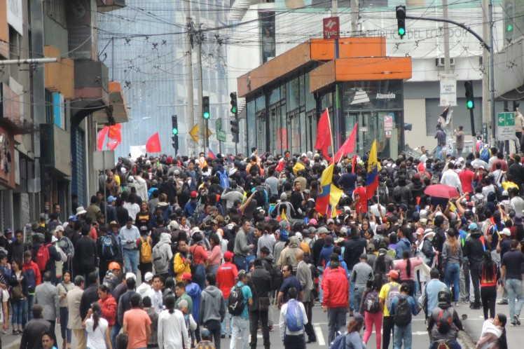 ecuador, lenin moreno, manifestaciones, estado de excepcion