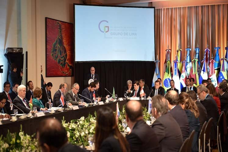 El Grupo de Lima se mostró molesto por el logro de Venezuela en Naciones Unidas. (Foto: PL)