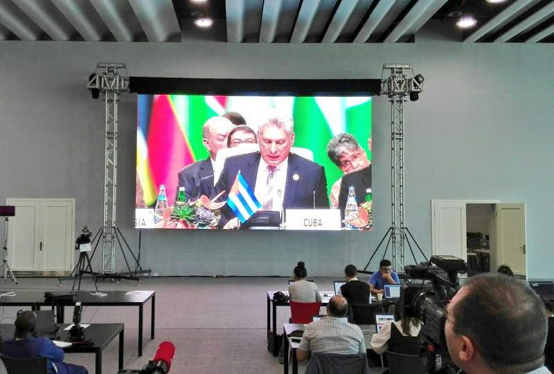 cuba, mnoal, movimiento de paises no alineados, miguel diaz-canel, presidente de la republica de cuba, azerbaiyan