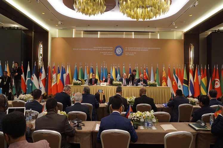El  Movimiento sale fortalecido de la Cumbre de Bakú. (Foto: PL)