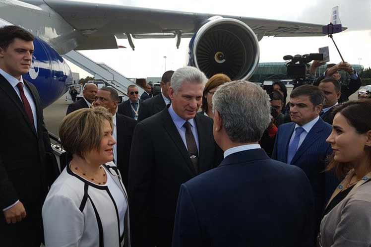 cuba, miguel diaz-canel, presidente de la republica de cuba, azerbaiyan, presidente de cuba en azerbaiyan, mnoal
