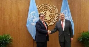 Cuba, ONU, bloqueo, MINREX