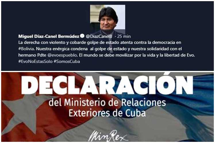 El mundo se debe  movilizar por la vida y la libertad de Evo, aseguró el presidente cubano. (Foto: PL)