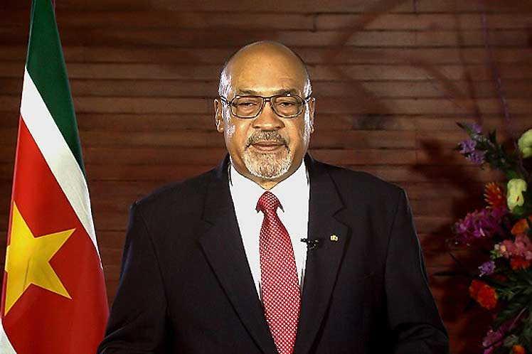 Llegará hoy a Cuba Desiré Delano Bouterse, presidente de Surinam
