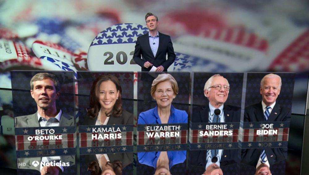 Debemos lidiar con la  corrupción de Trump, pero también tenemos que defender a las familias  trabajadoras, expresó Sanders en el debate.