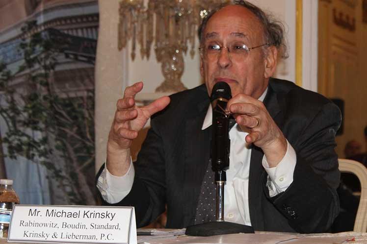 Michael Krinsky fue uno de los ponentes en un seminario celebrado en la Embajada de Cuba en Washington. (Foto: PL)