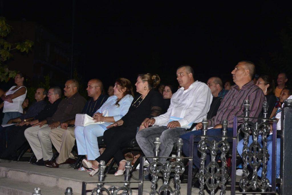Las máximas autoridades del Partido y el Gobierno en la provincia participaron en la conmemoración.