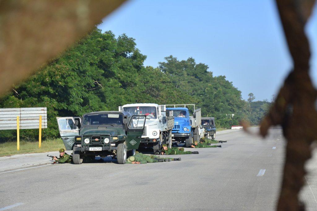 Los ejercicios en la Autopista Nacional  fueron evaluados de satisfactorios.