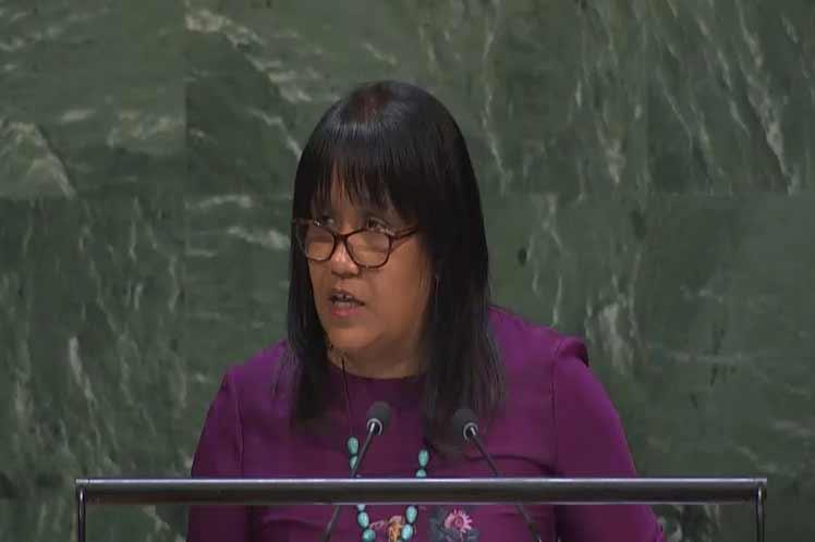 La vicecanciller cubana condenó la imposición de medidas coercitivas unilaterales contra países del Sur. (Foto: PL)