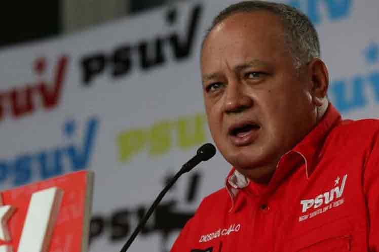 Cabello intervino en el acto de juramentación de los equipos políticos del PSUV en el estado de Barinas. (Foto: PL)