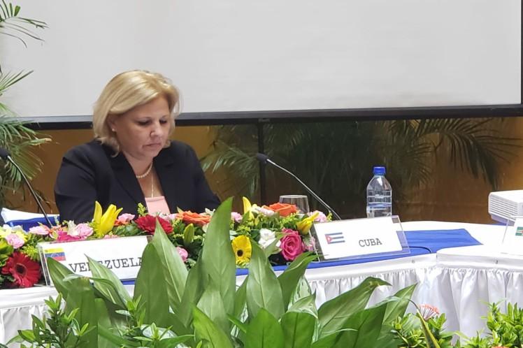 La vicecanciller cubana intervino en la reunión de emergencia del  Consejo de Ministros del Alba. (Foto: PL)