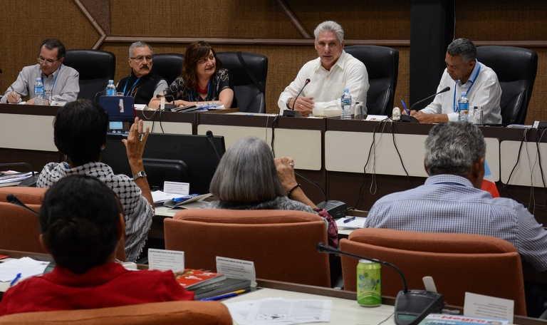 cuba, foro de sao paulo, miguel diaz-canel, presidente de la republica de cuba, america latina y el caribe como zona de paz
