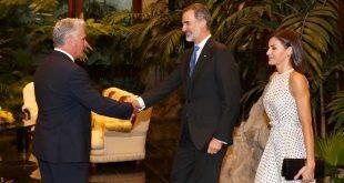 cuba, españa, reyes de españa en cuba, miguel diaz-canel, presidente de la republica de cuba