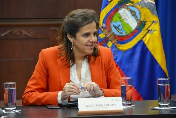 La ministra María Paula Romo anunció la conclusión de los acuerdos sanitarios con Cuba. (Foto: El Universo)