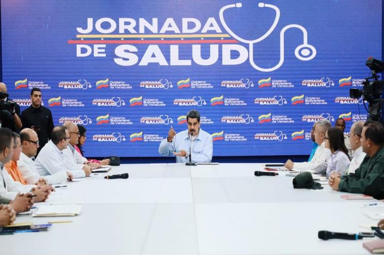 El presidente venezolano intervino en una jornada de salud desde el Palacio de Miraflores. (Foto: PL)