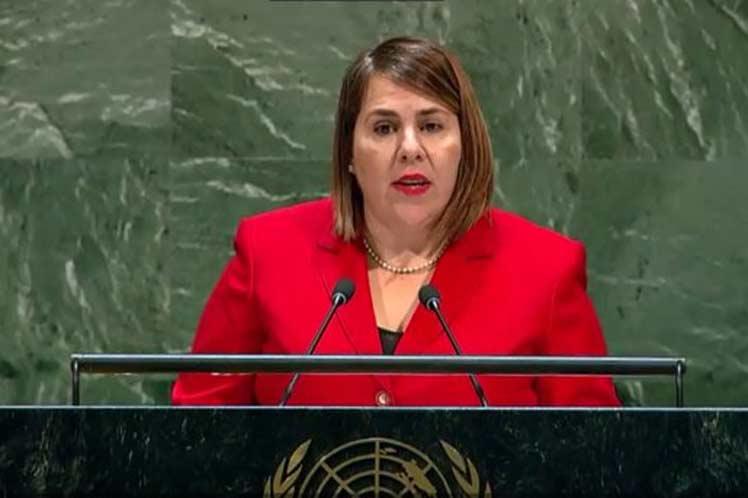 No puede haber paz sin el pleno respeto de la soberanía de los Estados, aseguró Ana Silvia  Rodríguez. (Foto: PL)