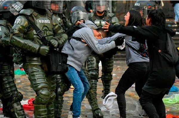 colombia, manifestaciones, derechos humanos