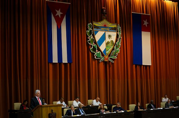Díaz-Canel resaltó la respuesta del pueblo cubano. (Foto: Irene Pérez/ Cubadebate)