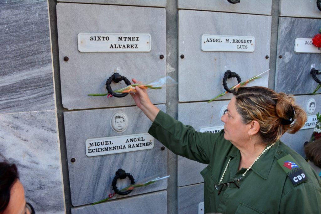 Teresita Romero Rodríguez, vice presidenta del Consejo de Defensa Provincial, también se sumó al tributo.