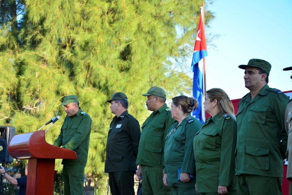 Julio Luís Jiménez López, presidente del Consejo de Defensa Municipal de Sancti Spíritus, resumió el solemne acto.